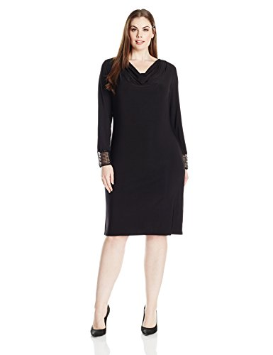 Tiana-B-Womens-Plus-Size-Long-Cowl-Neck-Dress-with-Sequin-Sleeve-Detail-Black-20W-0