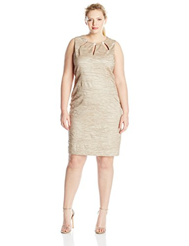 Eliza J Women's Plus Size Sheath Dress with Cutouts at Neckline