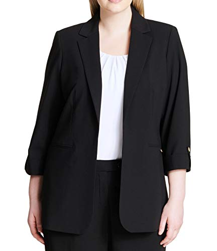 Calvin-Klein-Womens-Jacket-Plus-Roll-Tab-Blazer-Crepe-0